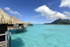 Остров рая Bora-Bora идилличный Стоковое Изображение RF