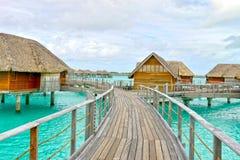 Остров рая Bora-Bora идилличный Стоковые Изображения RF
