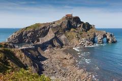 Остров Сан Жуан de Gaztelugatxe стоковое изображение