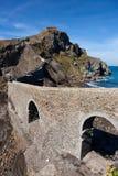 Остров Сан Жуан de Gaztelugatxe стоковая фотография