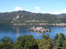 Остров Сан Giulio на озере Orta Стоковое фото RF