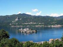 Остров Сан Giulio на озере Orta Стоковое Изображение RF