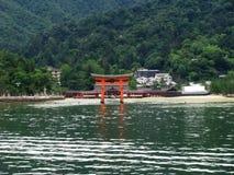 остров свой висок miyajima seagate Стоковое Изображение