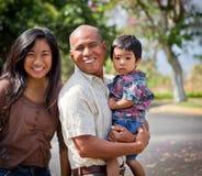 остров семьи счастливый Стоковое Изображение