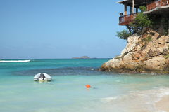Остров Сен-Бартельми, карибский Стоковое фото RF