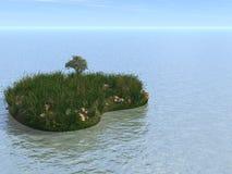 остров сердца иллюстрация вектора