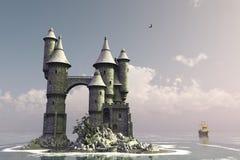 остров сказки замока Стоковое фото RF
