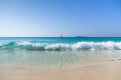 Остров сновидений. Anse Lazio. Стоковое фото RF