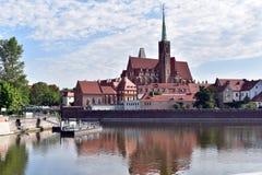 Остров собора в Wroclaw Стоковая Фотография RF