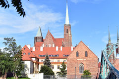 Остров собора, Wroclaw Стоковое Фото