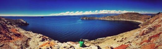 Остров Солнця панорамный Стоковые Фотографии RF