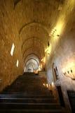 остров средневековый rhodes замока нутряной Стоковое Изображение
