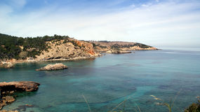 остров среднеземноморская Испания ibiza Стоковое Изображение RF