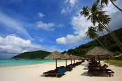 остров стулов пляжа Стоковое Фото