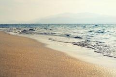 Остров с видом на море стоковая фотография