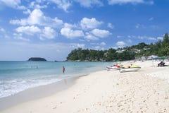 Остров Таиланд Пхукета туристов пляжа Kata Стоковые Фотографии RF