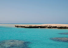Остров тиран Красное Море Стоковое фото RF