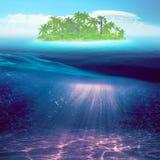 остров тропический абстрактные предпосылки морские Стоковые Изображения