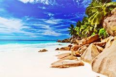 остров тропический Сейшельские островы Стоковые Изображения