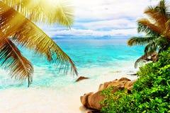 остров тропический Сейшельские островы Стоковое фото RF