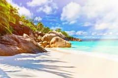 остров тропический Сейшельские островы Стоковое Фото