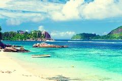 остров тропический Сейшельские островы Стоковые Фото
