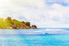 остров тропический Сейшельские островы Стоковое Изображение RF