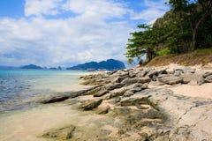 остров тропический El Nido philippines Стоковая Фотография