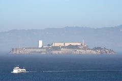 остров тумана alcatraz Стоковые Фотографии RF