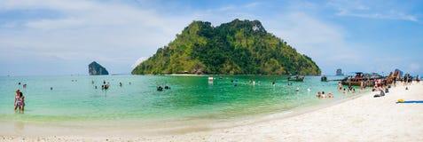 Остров ушата невиденный в krabi, krabi, Таиланде Стоковое фото RF