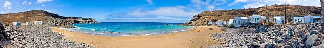 Остров Фуэртевентуры пляжа puertito El, Канарские острова Испания стоковые изображения rf