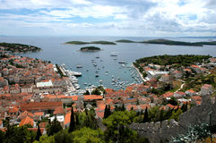 остров Хорватии hvar Стоковое фото RF
