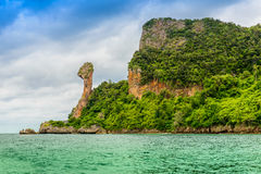 Остров цыпленка, Koh Kai, в море Andaman Стоковое Изображение