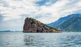 Остров черепахи в Анталье Стоковые Изображения RF