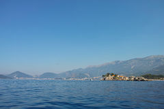 Остров Черногория Stefan Святого Стоковые Изображения