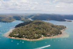 Остров Шотландии, NSW Австралия - воздушная съемка Стоковое фото RF