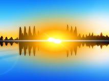 Остров 18 волны Стоковое Изображение RF