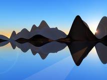 Остров 2 волны Стоковая Фотография