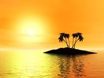 остров 3d Стоковые Изображения RF