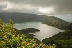 Остров Açores зеленый остров Стоковое Фото