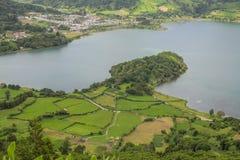 Остров Açores зеленый остров Стоковые Изображения RF