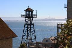 Остров Alcatraz - башня, тюрьма Стоковое Фото