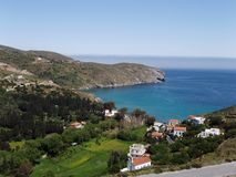 остров andros Греции Стоковое фото RF