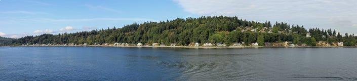 остров bainbridge над погодой Стоковая Фотография