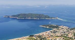 Остров Becici и St Nicholas стоковое изображение rf