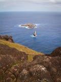 Остров Birdman острова пасхи Стоковое Изображение RF