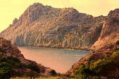 Остров Cala Fico - Сан Pietro s - Италия Стоковые Изображения