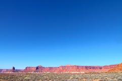 Остров Canyonlands NP следа Murphy в небе Юте Стоковая Фотография RF