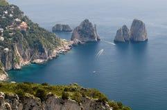 остров capri Стоковые Изображения RF