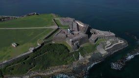 Остров Castillo De San Cristobal Пуэрто-Рико сток-видео